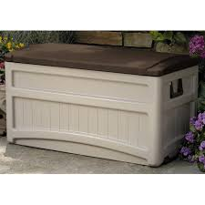 Waterproof Patio Storage Bench by Furniture Suncast Deck Box Patio Storage Containers Resin
