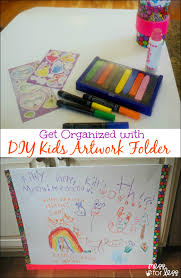 Diy Childrens Desk by Get Organized With A Diy Kids Artwork Folder Mess For Less