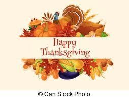 vector illustration of thanksgiving day banner fall harvest