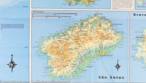 Map Of West Africa by Map Of The Cape Verde Islands U0026 West Africa Itm Maps Company