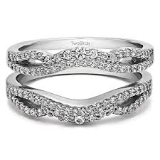 infinity wedding rings sterling silver infinity wedding ring guard