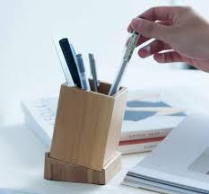 Desk Pencil Holder Bamboo Wood Desk Pen Pencil Holder Feelgift