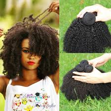 Natural Virgin Hair Extensions by Black Grade 8a Brazilian Afro Curly Human Hair Weave Black