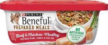 purina beneful prepared meals beef u0026 chicken medley with green