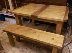 Handmade Kitchen Table by Rustic Chunky Dining Kitchen Table And Bench Seat In Eco