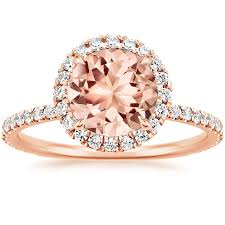 morganite ring gold morganite waverly ring in 14k gold brilliant earth