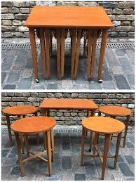 danish nest of tables planet bazaar vintage furniture camden