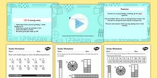 year 3 fractions tenths task setter powerpoint activity pack