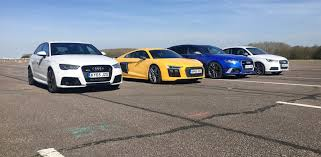 exotic cars lined up audi r8 drag race is it the fastest audi on sale carwow