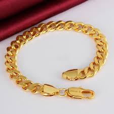 mens gold hand bracelet images Fashion 8mm chain men 39 s bracelet gold colour titanium steel metal jpg