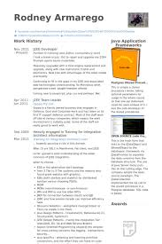 Core Java Developer Resume Sample by Developer Resume Samples Visualcv Resume Samples Database