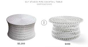 cocktail table vs coffee table oly studio pipa cocktail table copycatchic