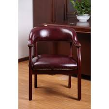 Leather Boss Chair Boss Traditional Burgundy Captain U0027s Chair B9540 By The Home Depot