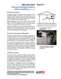 balanced ventilation systems building science corporation info 611 balanced ventilation systems hrvs and ervs