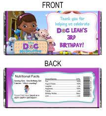 doc mcstuffins personalized coloring book crayon favor
