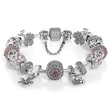 pandora bracelet with charms images High quality pandora cb18465 dazzling floral complete bracelet jpg