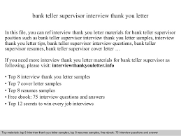 Sample Resume For Bank Teller by Bank Teller Supervisor