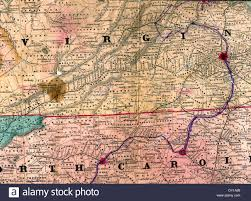 Map Of Carolinas Map Of Mosby U0027s Route Through Virginia And North Carolina 1863 Usa