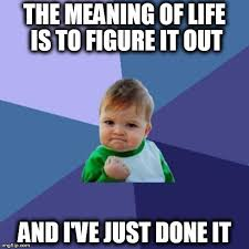 The Meaning Of Meme - the meaning of life imgflip