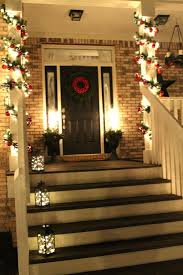 Christmas Decorations Outdoor Ideas Pinterest by 25 Best Christmas Front Porches Ideas On Pinterest Christmas