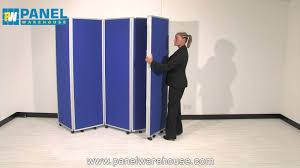 folding room dividers mobile folding room dividers from panel warehouse youtube