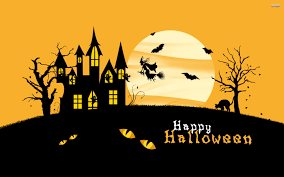 halloween castle background by862 hd widescreen wallpaper halloween cats halloween cats