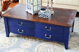 diy navy coffee table refinishing put that on your blog