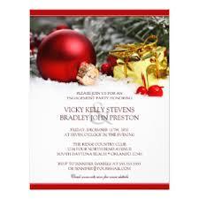christmas engagement party invitations u0026 announcements zazzle
