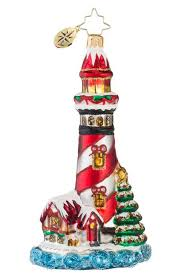 christopher radko festive beacon lighthouse ornament