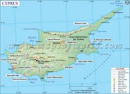 map of cyprus map