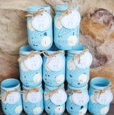 jar baby shower centerpieces jar centerpieces baby shower centerpieces blue and white