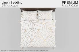 linen bedding mockup set product mockups creative market