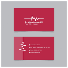 red medical business card template vector free downloadmedical