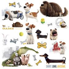 the secret life of pets boys peel and stick wall decals set the secret life of pets movie boys wall stickers