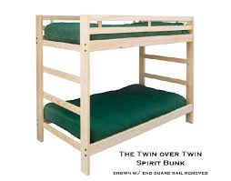 TWIN BUNK BED SPIRIT STYLE - Guard rails for bunk beds
