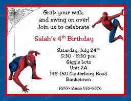 free spiderman birthday invitations templates party invitations