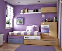 inspiring decoration interior small bedroom purple wall color