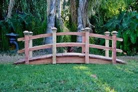 12 foot span curved double rail garden bridge 12 foot curved