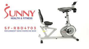 fit desk exercise bike sunny health u0026 fitness sf rbd4703 recumbent desk exercise bike