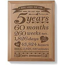 5 year anniversary gifts for husband kate posh 5th anniversary engraved wood