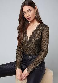 bodysuits lace mesh long sleeve bebe