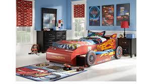 disney cars lightning mcqueen black 8 pc bedroom