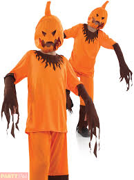 childs scary pumpkin costume boys horror halloween fancy dress
