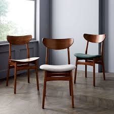 Dining Chair Wood Classic Café Upholstered Dining Chair West Elm
