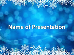 snow background template for presentation on new year