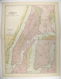 wedding gift nyc large antique map new york city 1897 vintage new york city map nyc
