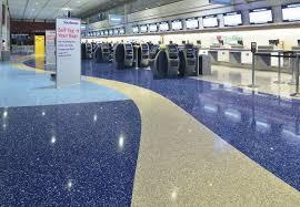 floor and decor ta terrazzo artistry delivers glitz to mccarran terminal concrete decor