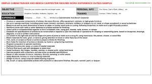 Cabinet Maker Job Description by Cabinet Maker Duties Everdayentropy Com