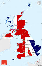 Map Of The United Kingdom Flag Simple Map Of United Kingdom Single Color Outside Flag