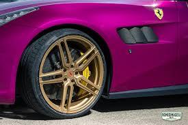 car ferrari gold purple ferrari gtc4lusso on gold vossen wheels has all the
